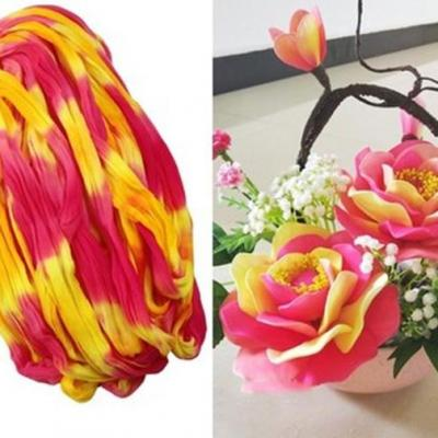 N0013 collant triple couleur  pour la création de fleurs, papillons, raquettes dragées