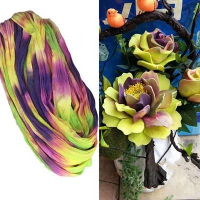 N0031 collant triple couleur  pour la création de fleurs, papillons, raquettes dragées
