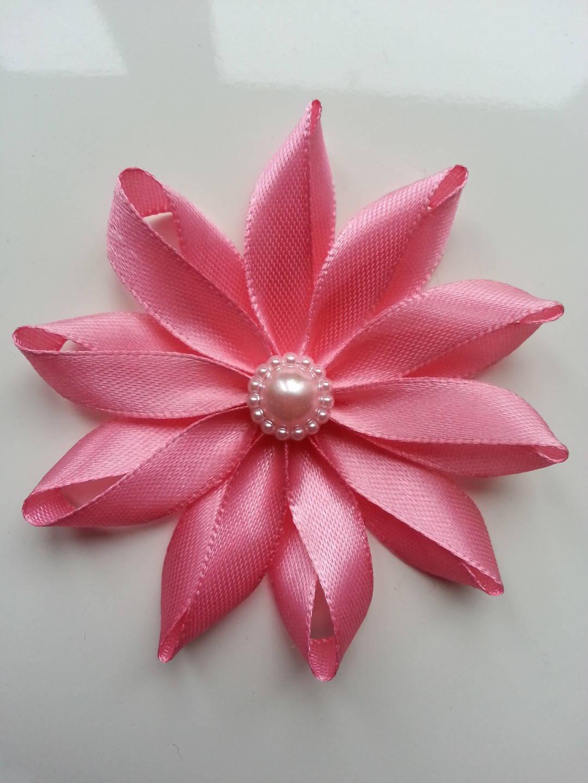 1311266 7 5 cm fleur de satin rose 1