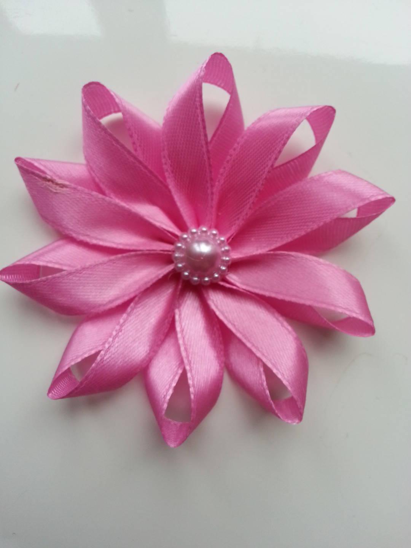 1311267 7 5 cm fleur de satin rose 1