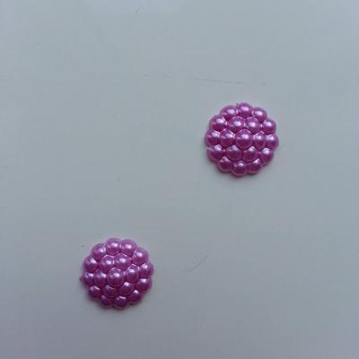 Lot de 2 embellissements en résine  12mm violet
