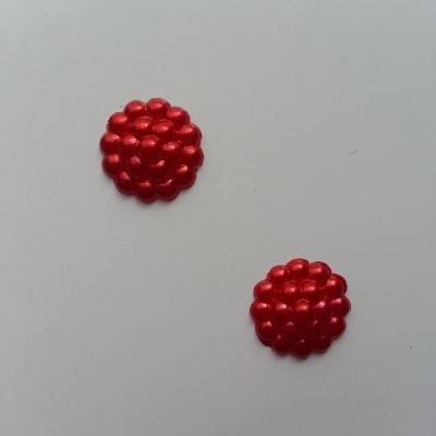 Lot de 2 embellissements en résine  12mm rouge