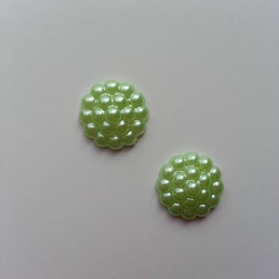Lot de 2 embellissements en résine  12mm vert