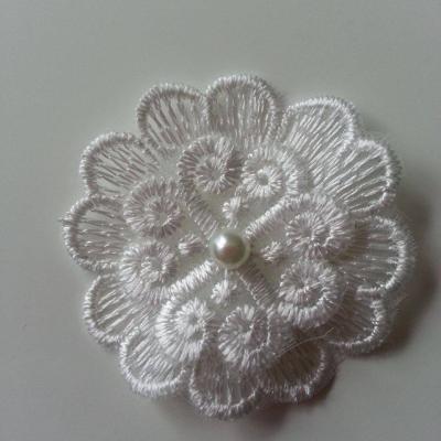 double fleur en dentelle blanc ivoire 50 mm