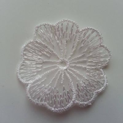 fleur en dentelle blanche 45mm
