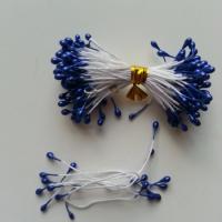 Lot de 10 pistils  tête de 3mm bleu foncé N14