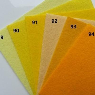 Feuille de feutrine unie 15 cm *15cm jaune orange N89