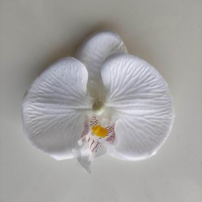 orchidée  en tissu blanc  80mm