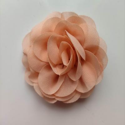 fleur de pavot en mousseline 80mm abricot