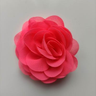 fleur de pavot en mousseline 80mm rose bonbon