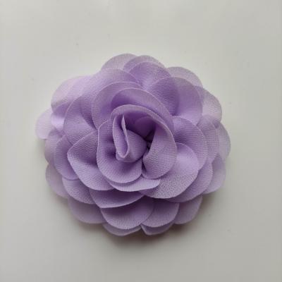 fleur de pavot en mousseline 80mm mauve