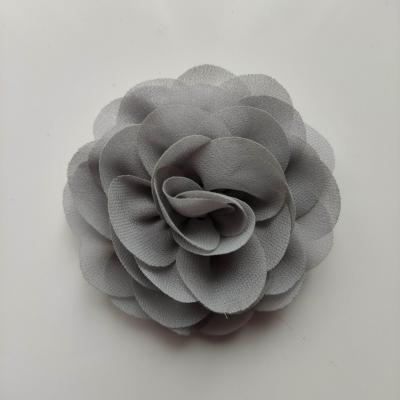 fleur de pavot en mousseline 80mm gris