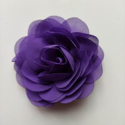fleur de pavot en mousseline 80mm violet