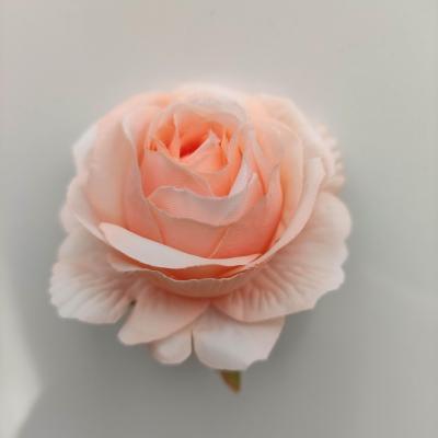 rose artificielle en tissu 50mm pêche