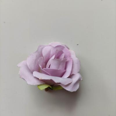 fleur rose artificielle  en tissu 35mm mauve