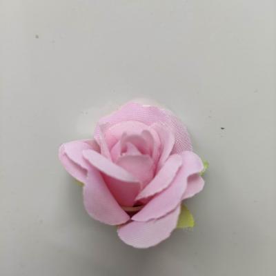 fleur rose artificielle  en tissu 35mm  pêche rosé