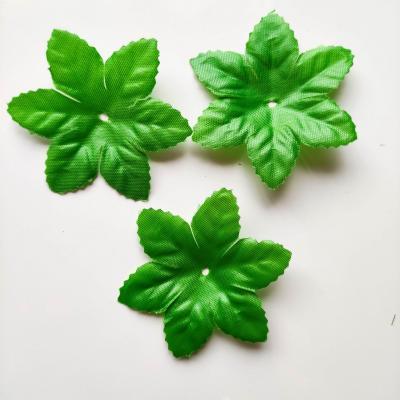 Lot de 3  feuilles artificielles vertes  65mm