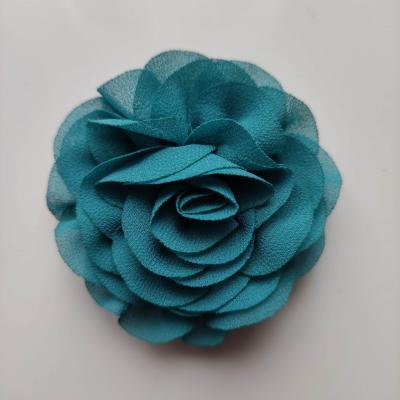 fleur en mousseline bleu vert 70mm