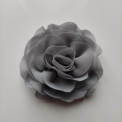 fleur en mousseline gris  70mm
