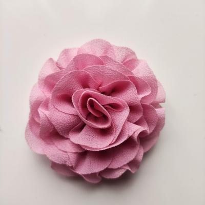 fleur en mousseline vieux rose 70mm