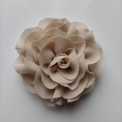fleur en mousseline beige  70mm