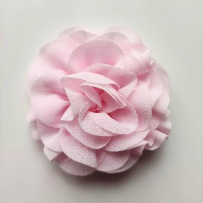 fleur en mousseline rose pâle  70mm