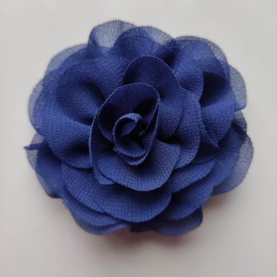 fleur en mousseline bleu marine 70mm