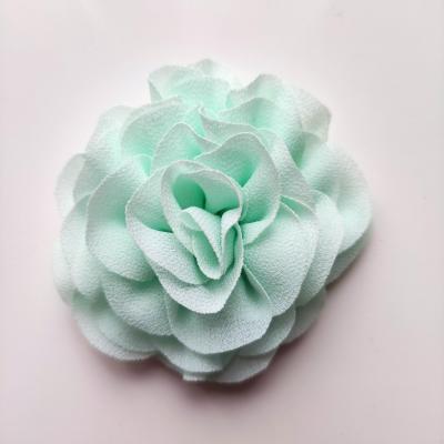 fleur en mousseline vert pastel 70mm