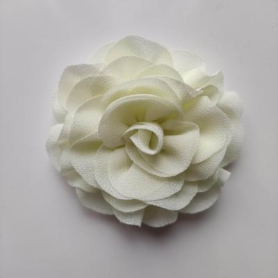 fleur en mousseline ivoire 70mm