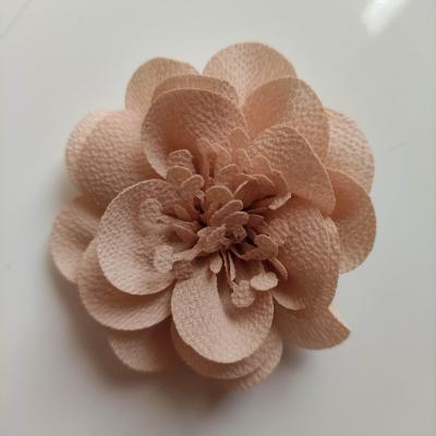 fleur mousseline avec pistils  60mm beige