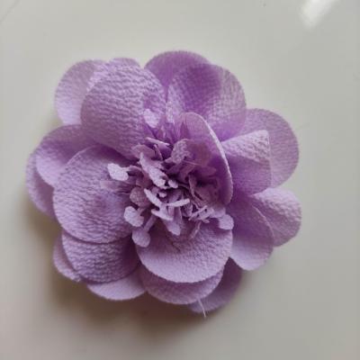 fleur mousseline avec pistils  60mm mauve