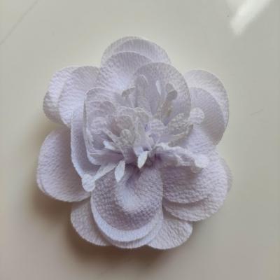 fleur mousseline avec pistils  60mm blanc