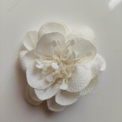 fleur mousseline avec pistils  60mm ivoire