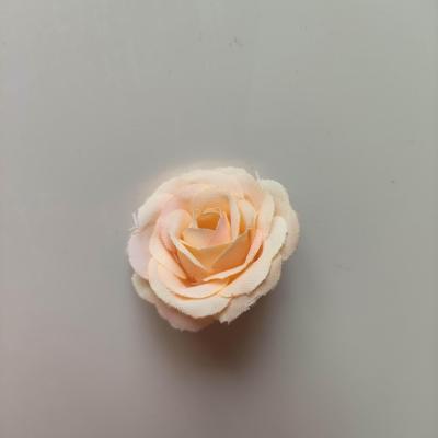 fleur en tissu 35mm pêche clair