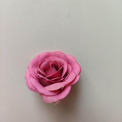 Fleur  en tissu  30mm rose fuchsia