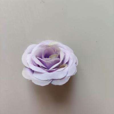 petite fleur artificielle en tissu 30mm mauve