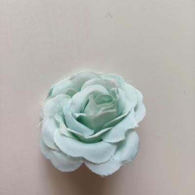 petite fleur artificielle en tissu 30mm vert clair