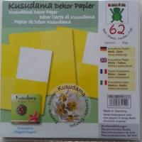 62 feuilles de papier  pour fabrication de fleurs en papier kusudama jaune
