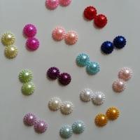 lot de 2 demi perles nacrées    12mm