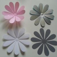 Fleur 3D  en plastique 11 cm