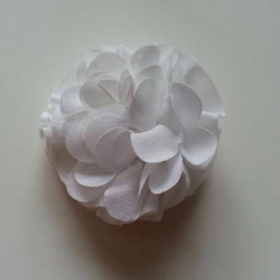 Applique fleur  pompon blanc 70mm