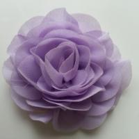 fleur en mousseline mauve 70mm