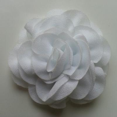 fleur en mousseline blanc 70mm