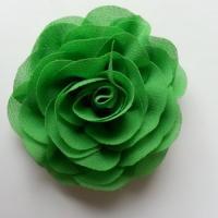 fleur en mousseline vert 70mm