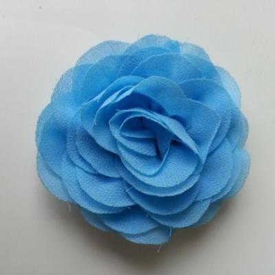 fleur en mousseline bleu 70mm