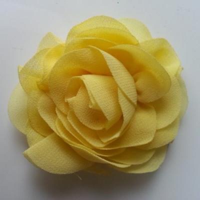 fleur en mousseline jaune 70mm