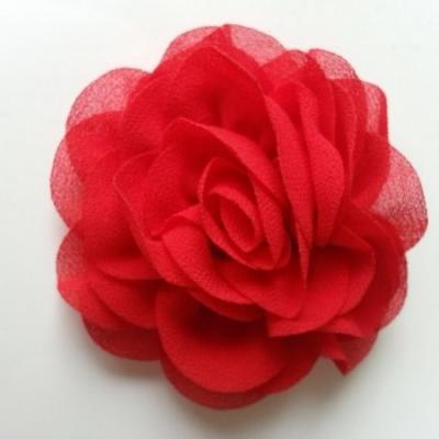 fleur en mousseline rouge 70mm
