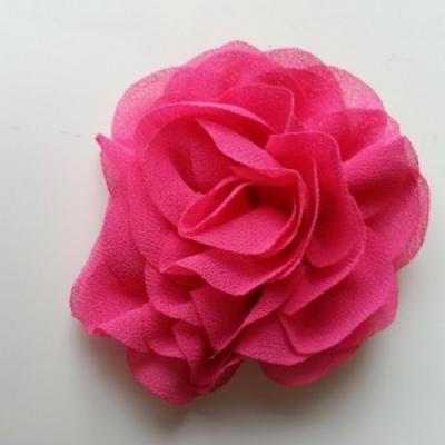 fleur en mousseline rose fuchsia  70mm