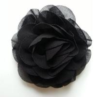 fleur en mousseline noir 70mm