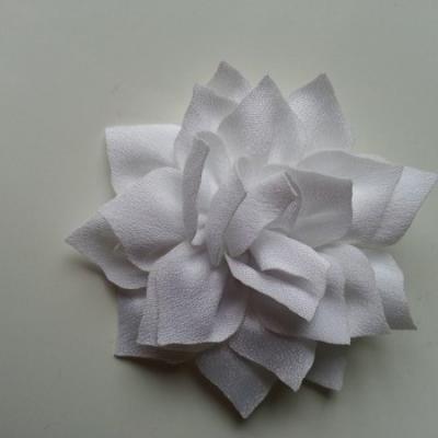 fleur en tissu blanc 70mm